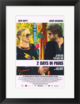 Framed 2 Days in Paris - Couple talking Print