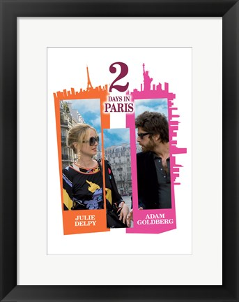 Framed 2 Days in Paris - Julie Delpy Print