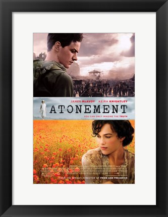 Framed Atonement Flower and Battle Fields Print