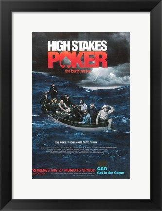 Framed High Stakes Poker Print