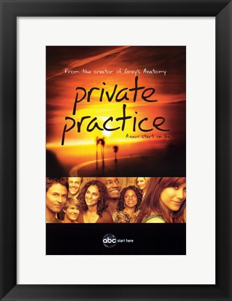Framed Private Practice Print