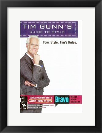 Framed Tim Gunn's Guide to Style Print