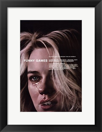 Framed Funny Games - woman crying Print