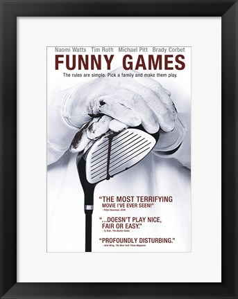 Framed Funny Games - Golf Print