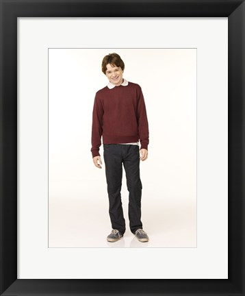 Framed Aliens in America - boy in a red sweater Print