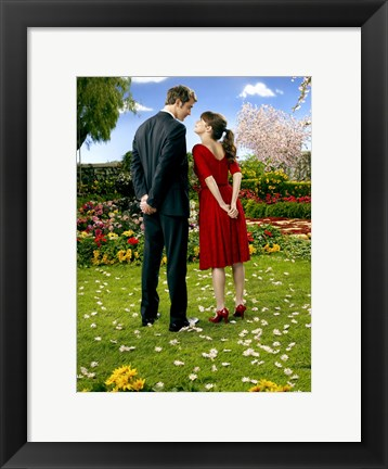 Framed Pushing Daisies Loving Couple Ned and Charolette Print