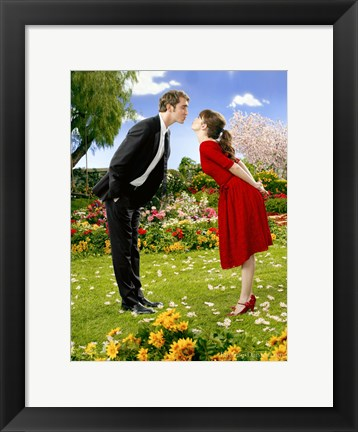 Framed Pushing Daisies Ned and Charolette Print
