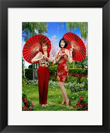 Framed Pushing Daisies Vivian and Lily Print