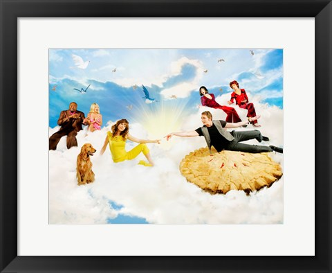 Framed Pushing Daisies Heaven with Pie Print