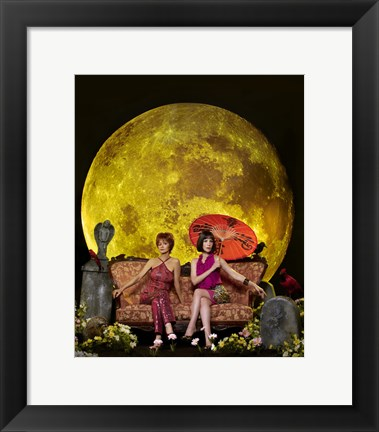 Framed Pushing Daisies Vivian and Lily Moon Print