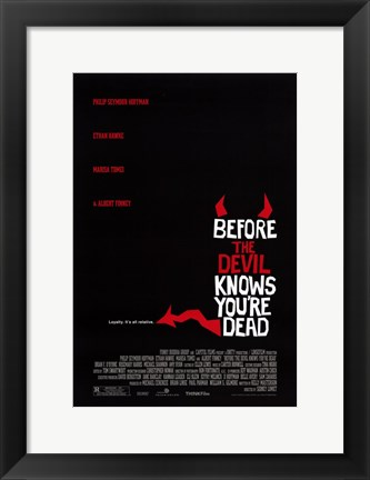 Framed Before the Devil Knows You're Dead Red and Black Print