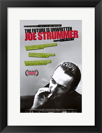 Framed Joe Strummer: The Future is Unwritten Print
