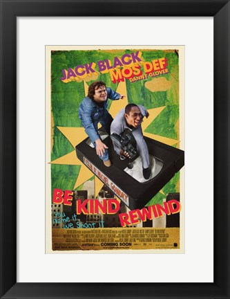 Framed Be Kind Rewind Print