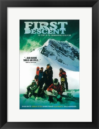 Framed First Descent Print