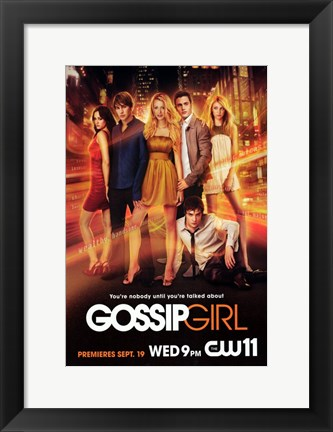 Framed Gossip Girl Entire Cast Poster Print