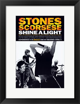 Framed Shine A Light - band Print