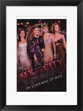 Framed Sex and The City: The Movie - characters Print