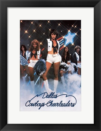 Framed Dallas Cheerleaders Print