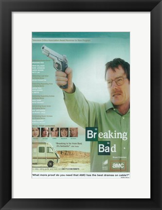 Framed Breaking Bad - man with a gun Print