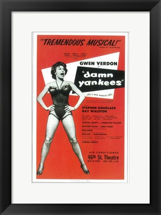Framed Damn Yankees (Broadway) Print