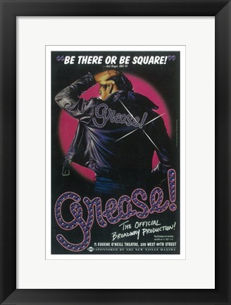 Framed Grease (Broadway) Official Production Print
