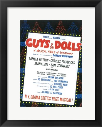 Framed Guys and Dolls (Broadway) Print