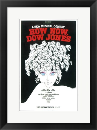 Framed How Now Dow Jones (Broadway) Print