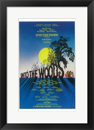 Framed Into the Woods (Broadway) Print