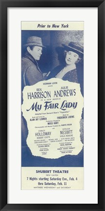 Framed My Fair Lady (Broadway) Print