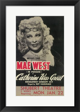 Framed Catherine Was Great (Broadway) Print