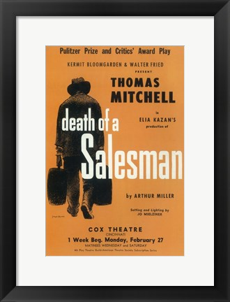 Framed Death Of A Salesman (Broadway) Print
