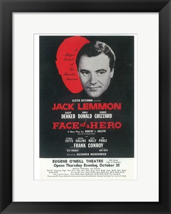 Framed Face Of A Hero (Broadway) Print
