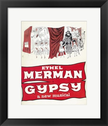 Framed Gypsy (Broadway) Print