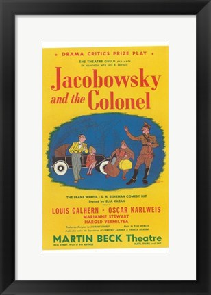Framed Jacobowsky And The Colonel (Broadway) Print