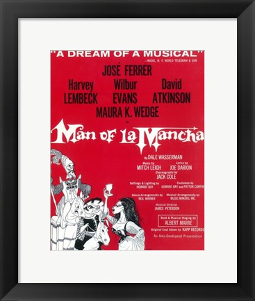 Framed Man Of La Mancha (Broadway) Print