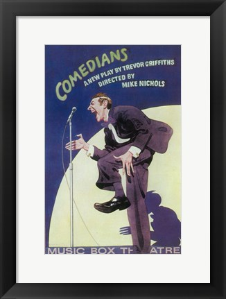 Framed Comedians (Broadway) Print