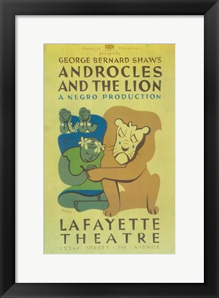 Framed Androcles And The Lion (Broadway) Print