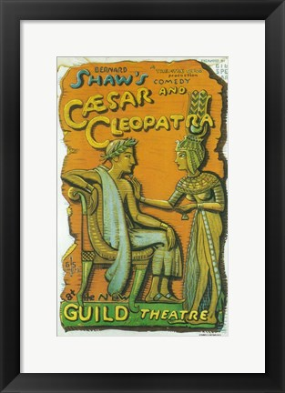 Framed Caesar And Cleopatra (Broadway) Print