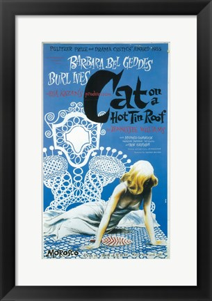 Framed Cat On A Hot Tin Roof (Broadway) Print