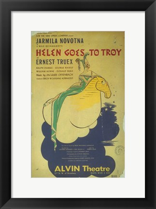 Framed Helen Goes To Troy (Broadway) Print
