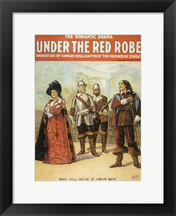 Framed Under The Red Robe (Broadway) Print
