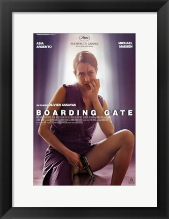 Framed Boarding Gate - woman sitting Print