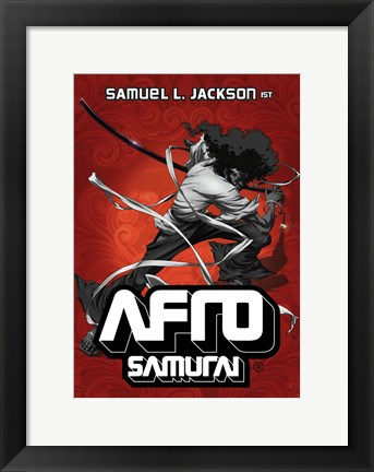 Framed Afro Samurai German Print
