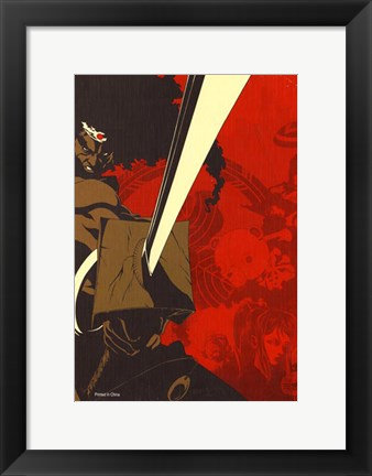 Framed Afro Samurai Animation Print
