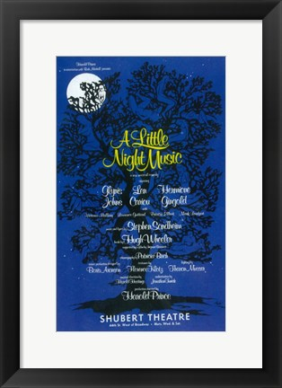 Framed Little Night Music  (Broadway) Print