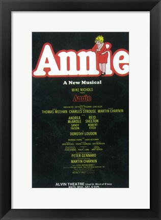 Framed Annie (Broadway) - style A Print
