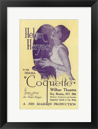 Framed Coquette (Broadway) Print