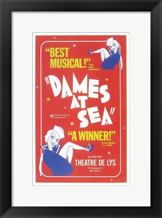 Framed Dames at Sea (Broadway) Print