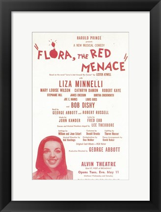 Framed Flora the Red Menace (Broadway) Print