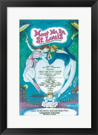 Framed Meet Me In St.Louis (Broadway) Print